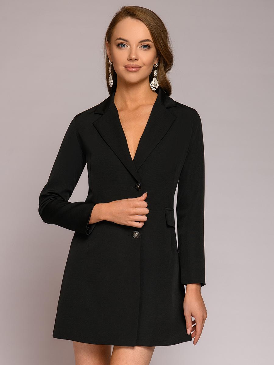 Повседневное платье женское 1001dress 0112001-30012BK черное 42