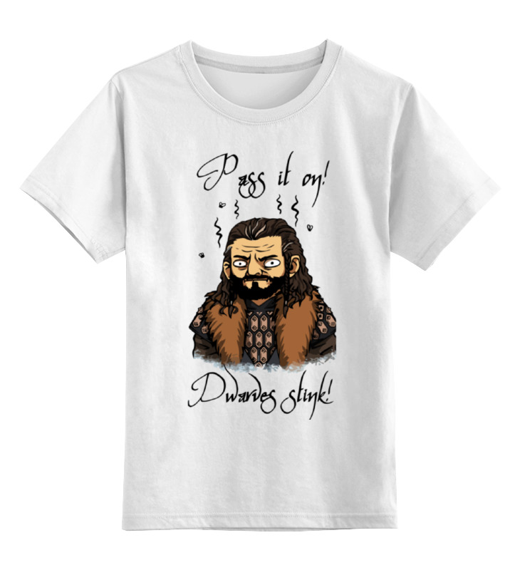 Купить 0000000787384, Детская футболка Printio Хоббит the hobbit цв.белый р.164,
