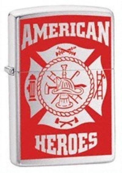 Зажигалка широкая Zippo AMERICAN HERO FIREFIGHTER