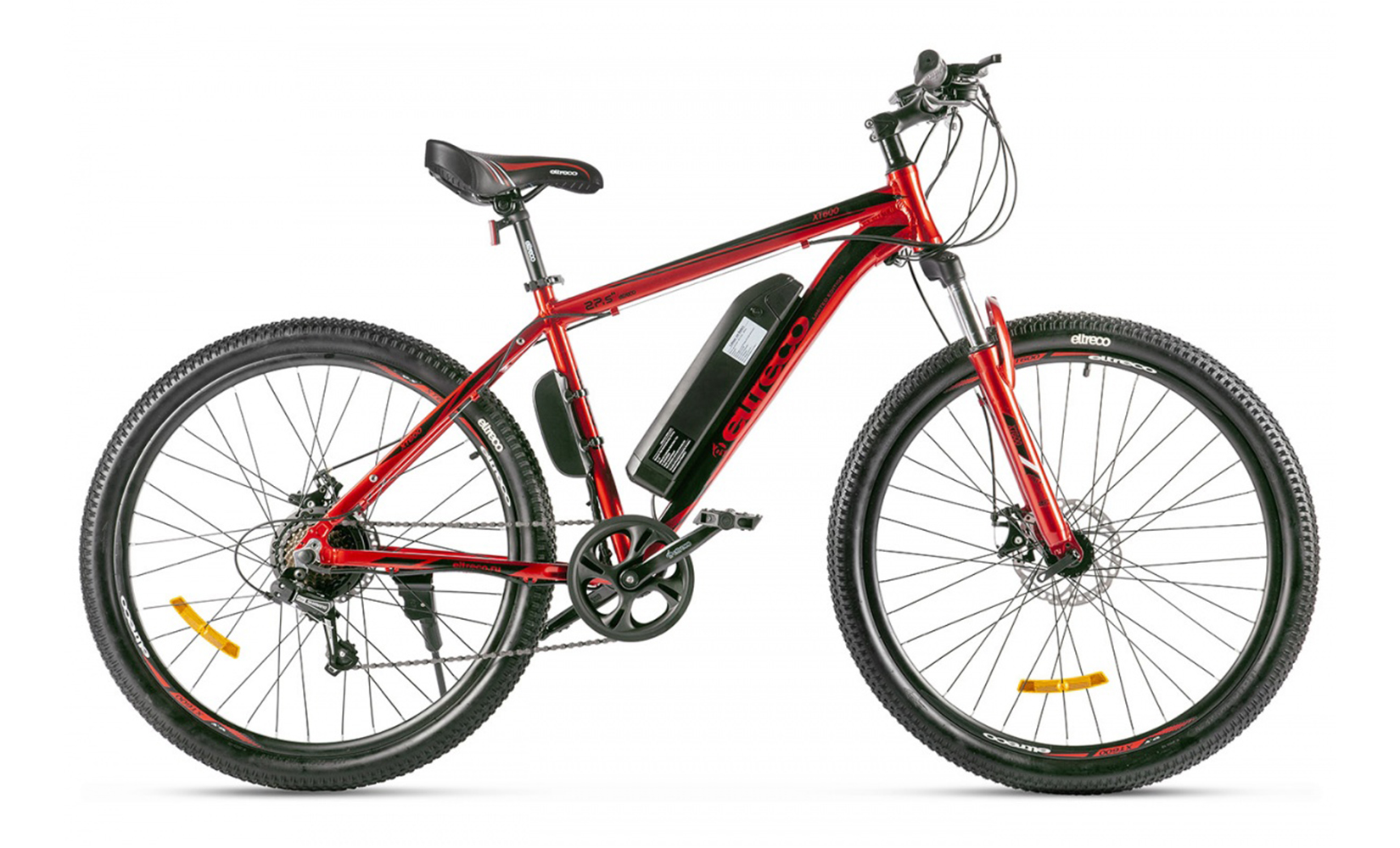 Электровелосипед Eltreco XT 600 Limited edition (2020) (Красный)