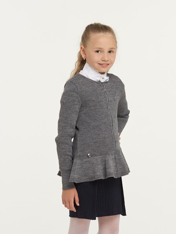 Купить 183-7108_серый, Жакет для девочек 183-7108 VAY цв.серый р.140,