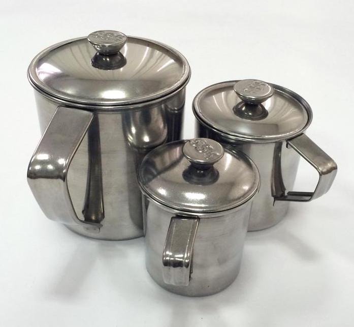 Кружка с крышкой из нержавеющей стали, 12,5 см, 1,35 литра от Stainless Steel