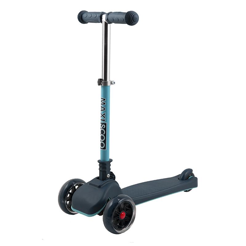 Купить Самокат Mini , со светящимися колесами, цвет: индиго, Maxiscoo, Самокаты детские трехколесные