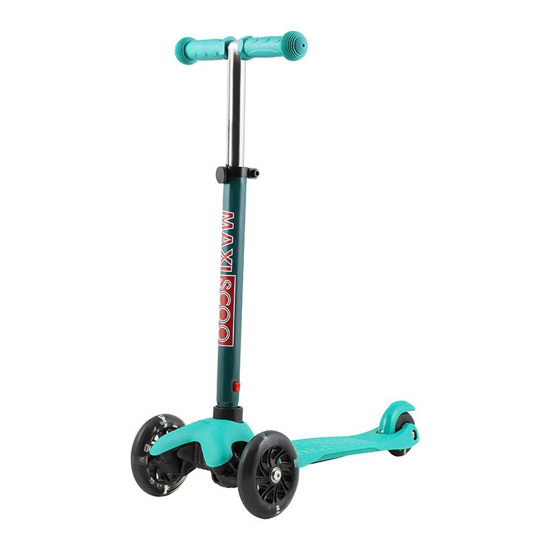 Купить Самокат Baby , со светящимися колесами, цвет: бирюза, Maxiscoo, Самокаты детские трехколесные