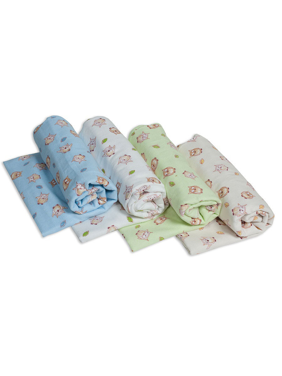 Купить Пеленки для новорожденных Чудо-Чадо фланелевые Сыночку 4 штуки,