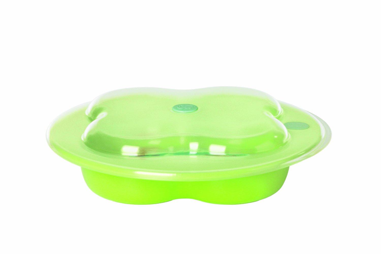 Тарелка Bebe Confort с крышкой зеленая
