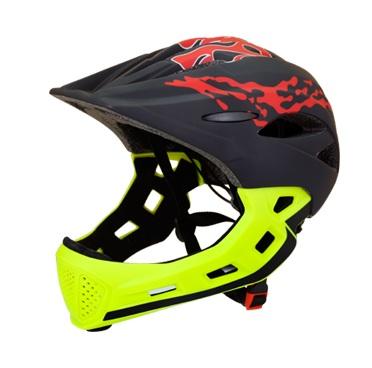 Купить Детский Шлем Herobike Т1 Чёрный/Зелёный (49-55 См),