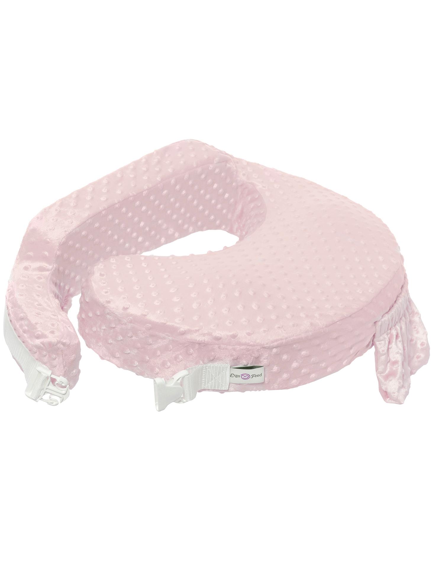 Подушка для кормления эргономичная ErgoFeed Пузырьки, розовый
