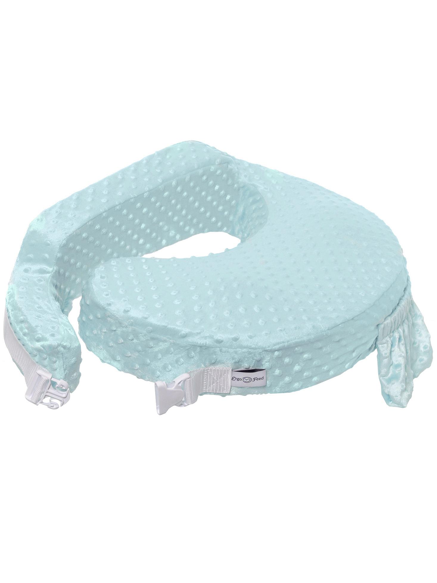 Подушка для кормления эргономичная ErgoFeed Пузырьки, голубой