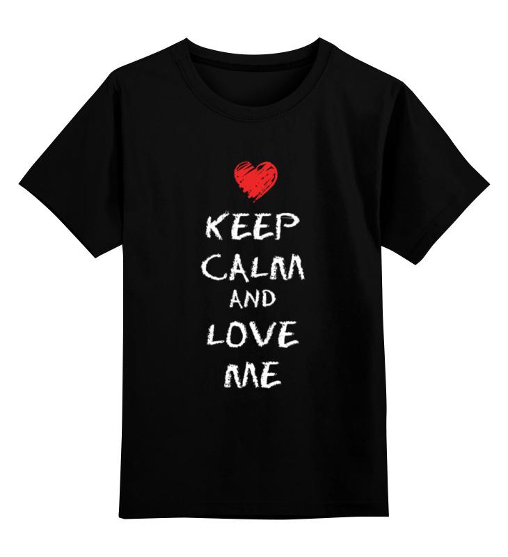 Купить 0000000782936, Детская футболка Printio Love me цв.черный р.152,