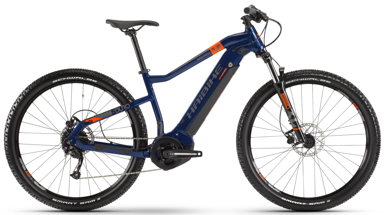 "Электровелосипед Haibike SDURO HardNine 1.5 2020 17.5"" orange/blue/grey"