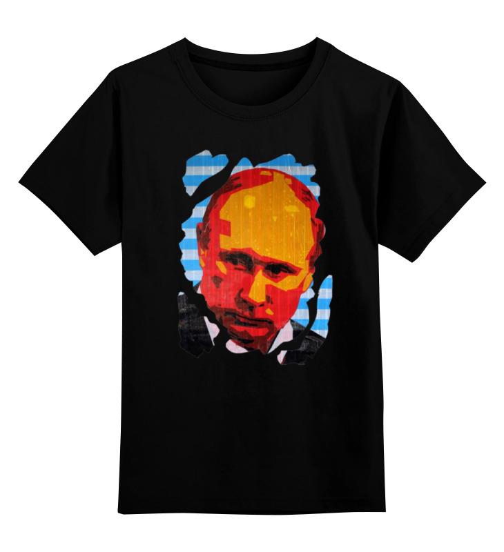 Купить 0000000780455, Детская футболка Printio Putin цв.черный р.152,