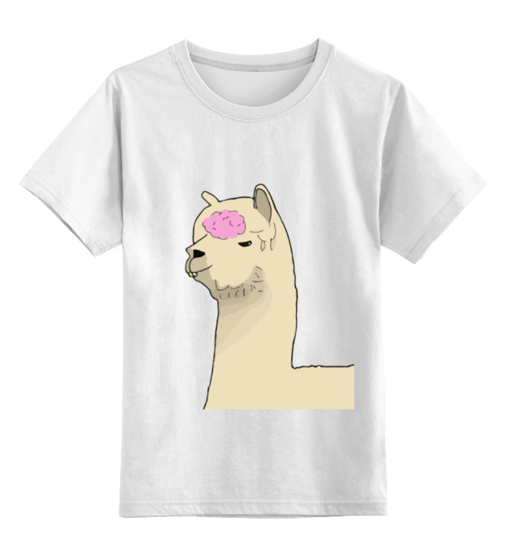 0000000770411, Детская футболка классическая унисекс Printio Альпака фред,  - купить со скидкой