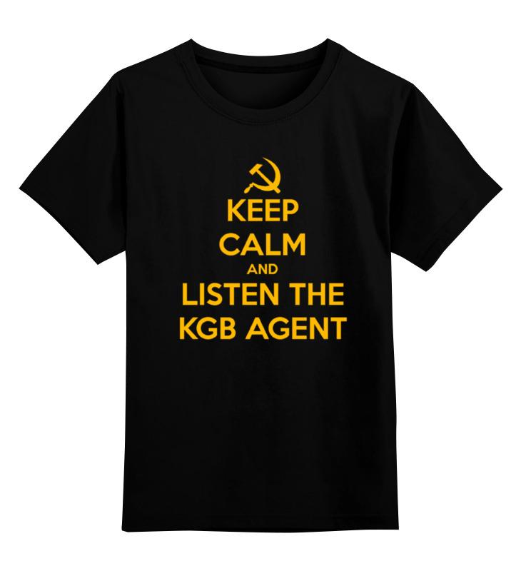 Купить 0000000770009, Детская футболка Printio Kgb russia цв.черный р.152,