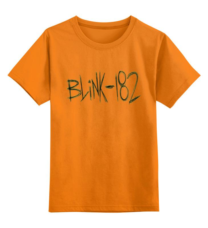 Детская футболка Printio Blink-182 yellow logo цв.оранжевый р.152 0000000769336 по цене 990