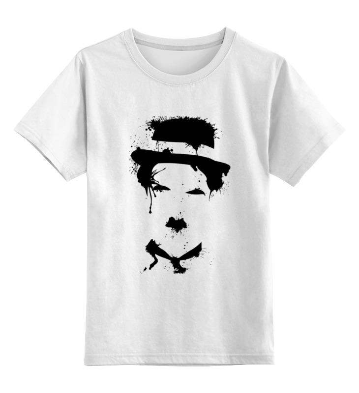 Купить 0000000785862, Детская футболка Printio Чарли чаплин цв.белый р.164,