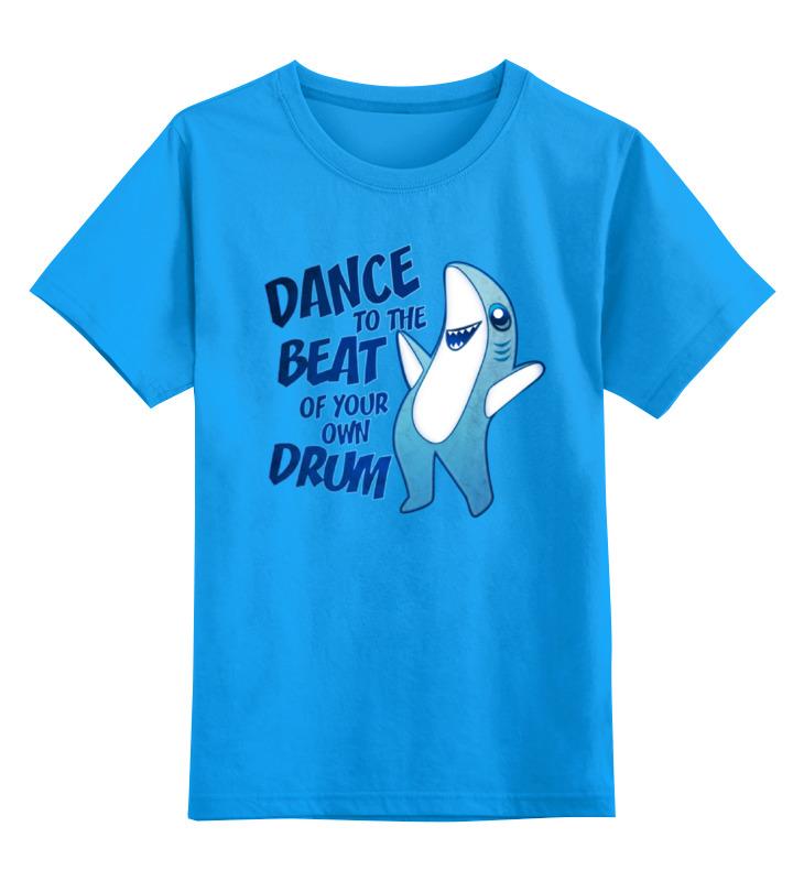 Детская футболка Printio Танцующая акула цв.голубой р.164 0000000781868 по цене 990