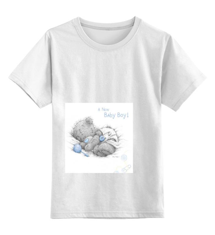 Детская футболка Printio Малютка тедди цв.белый р.164 0000000781047 по цене 790