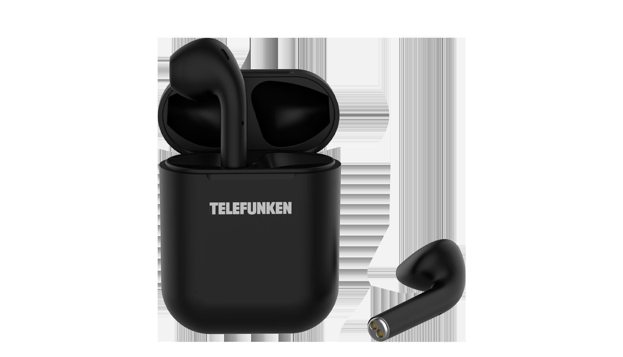 Беспроводные наушники Telefunken T1001B Black TF-1001B черный