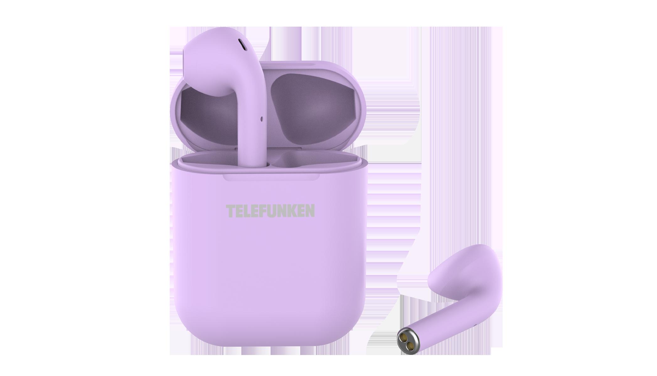 Беспроводные наушники Telefunken T1001B Violet TF-1001B фиолетовый