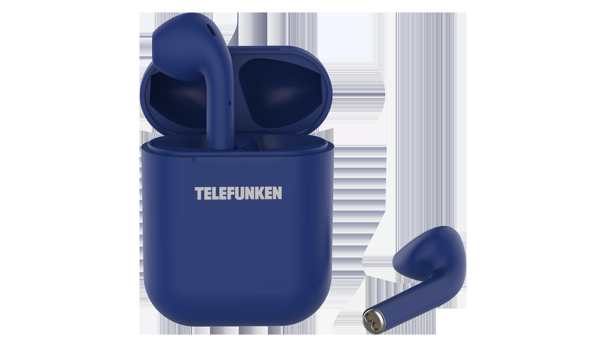 Беспроводные наушники Telefunken T1001B Blue TF-1001B синий