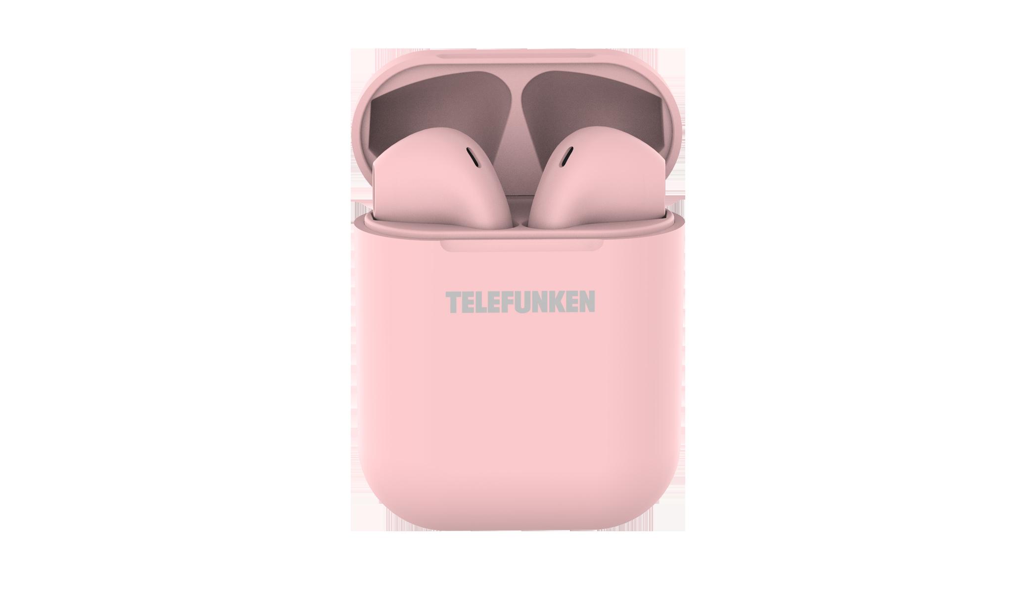 Беспроводные наушники Telefunken T1001B Pink TF-1001B розовый