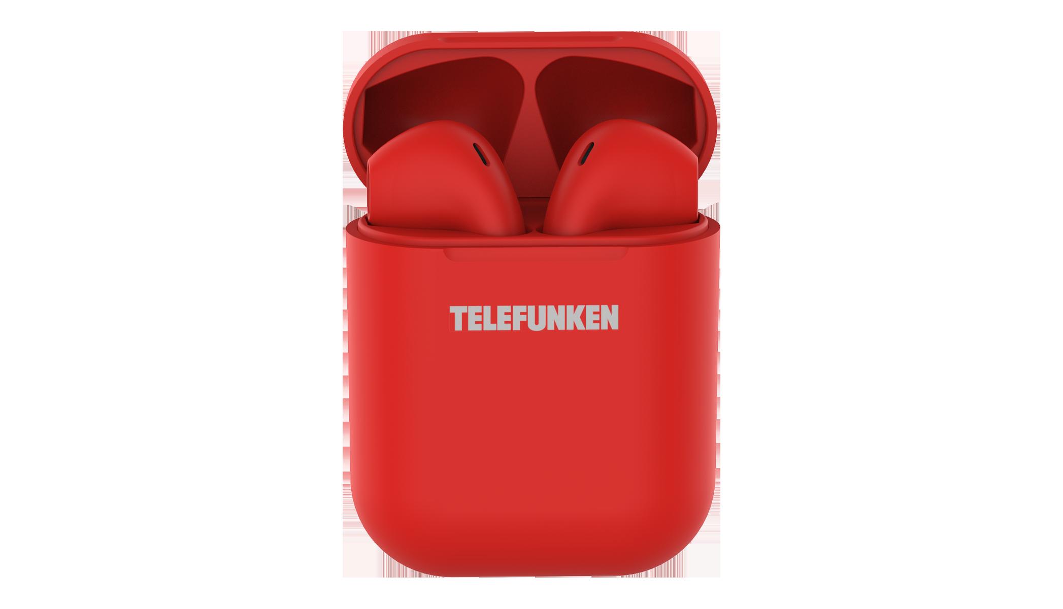 Беспроводные наушники Telefunken T1001B Red TF-1001B красный
