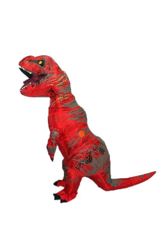 Надувной костюм Lilkrok Динозавр, цв. красный р.150