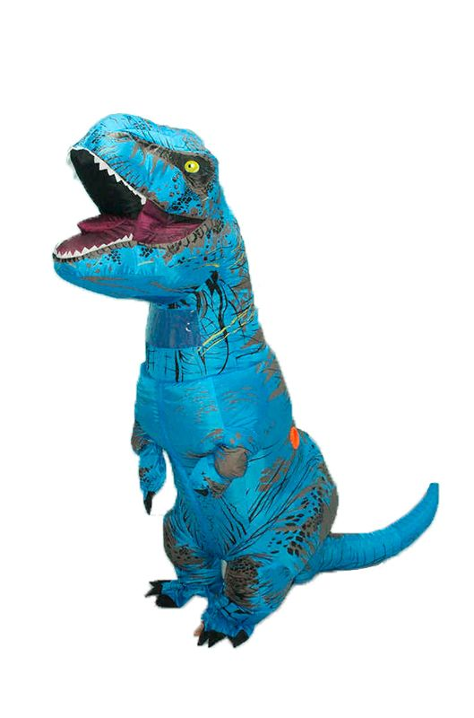 Надувной костюм Lilkrok Динозавр, цв. синий р.150
