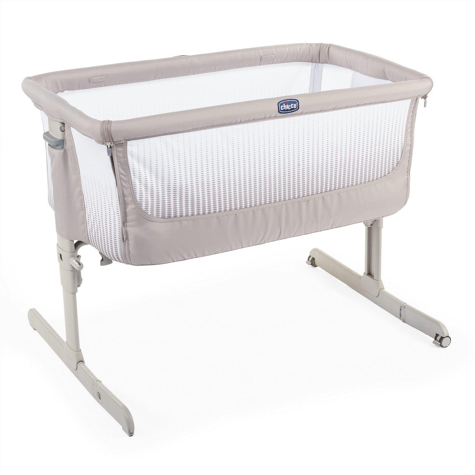 Кроватка Chicco Next2Me Air Dark Beige фото