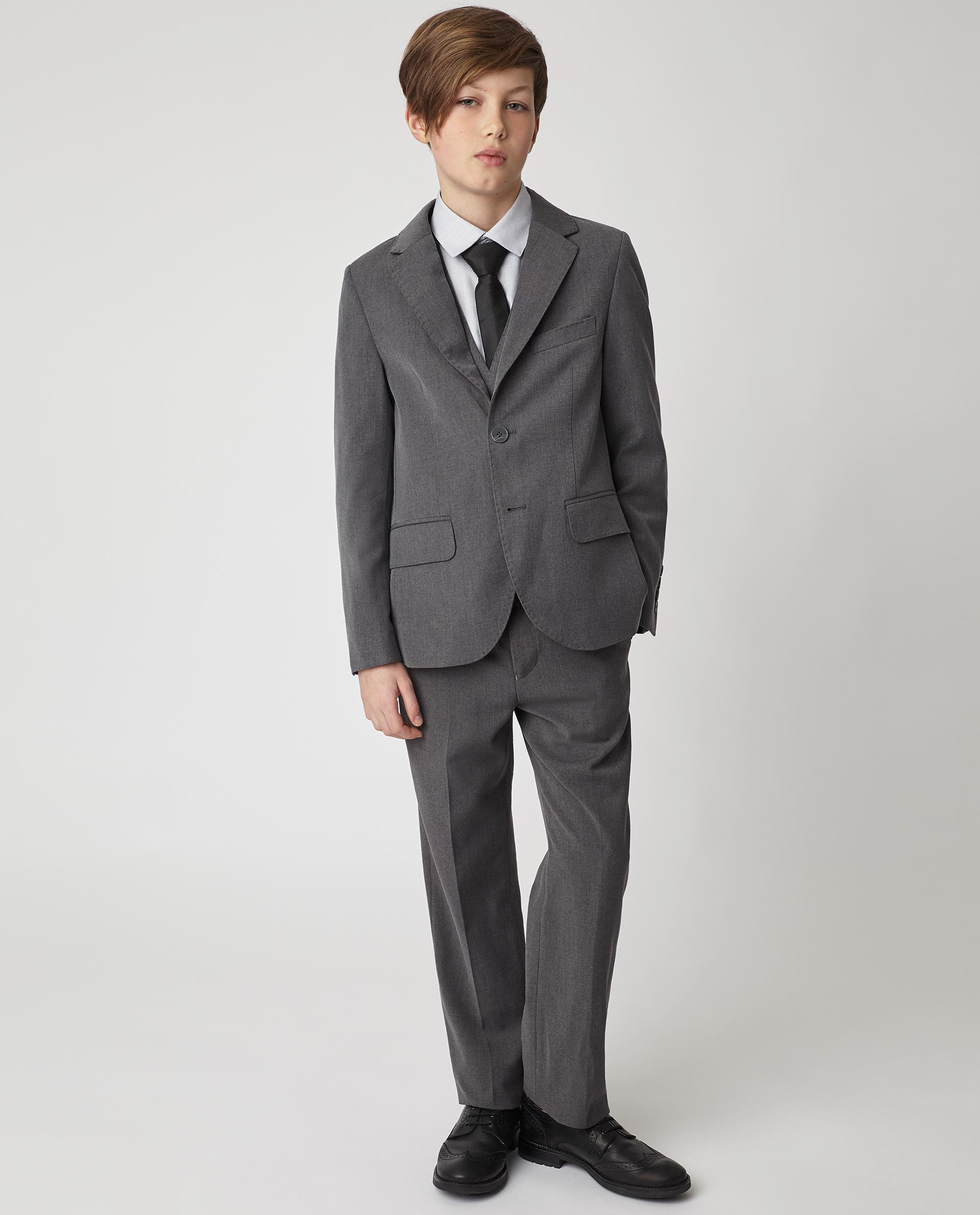 Купить Серый пиджак для мальчиков Gulliver 220GSBC4803, размер 146,