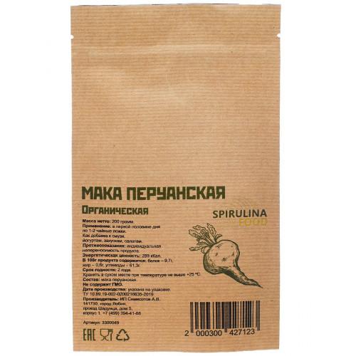 Купить Мака Перуанская органическая 200 г, Spirulinafood