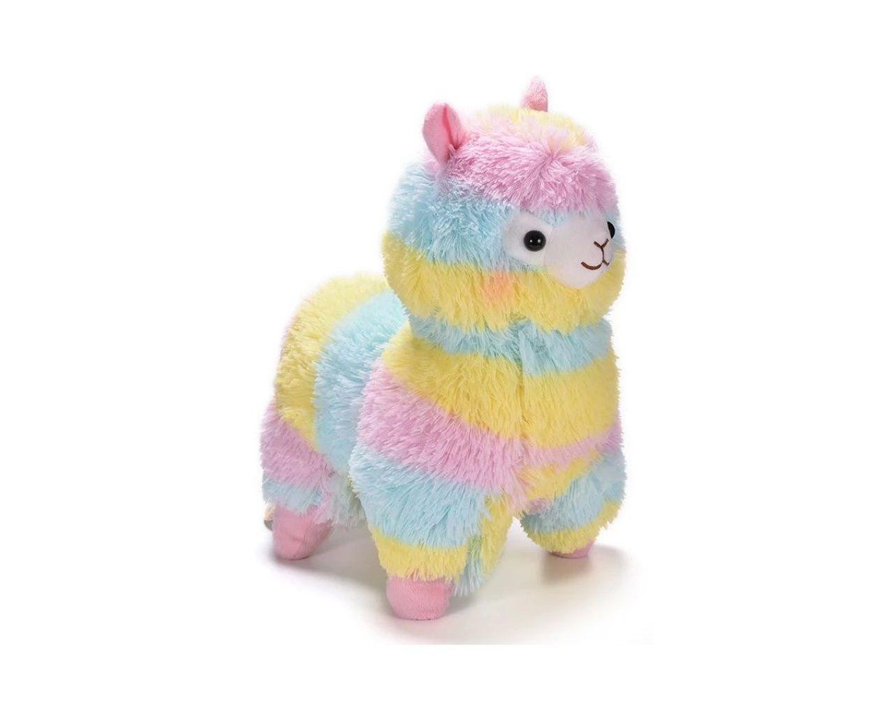 Купить Мягкая игрушка Радужная лама, 25 см, NoBrand, Мягкие игрушки животные