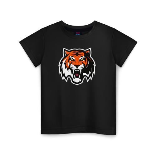 Купить Хлопок ХК Амур Тигр - 1642193, Детская футболка ВсеМайки ХК Амур Тигр, размер 164, VseMayki.ru,
