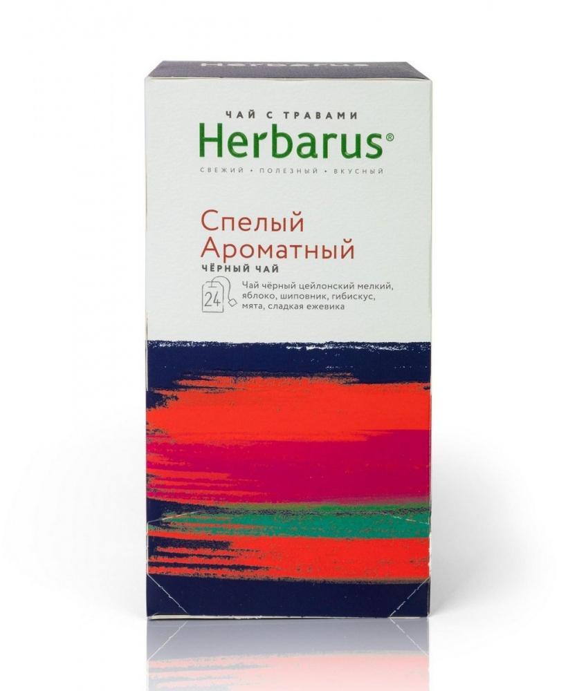 """Чай Herbarus """"Спелый ароматный"""", чёрный с добавками, 24 пакетика"""