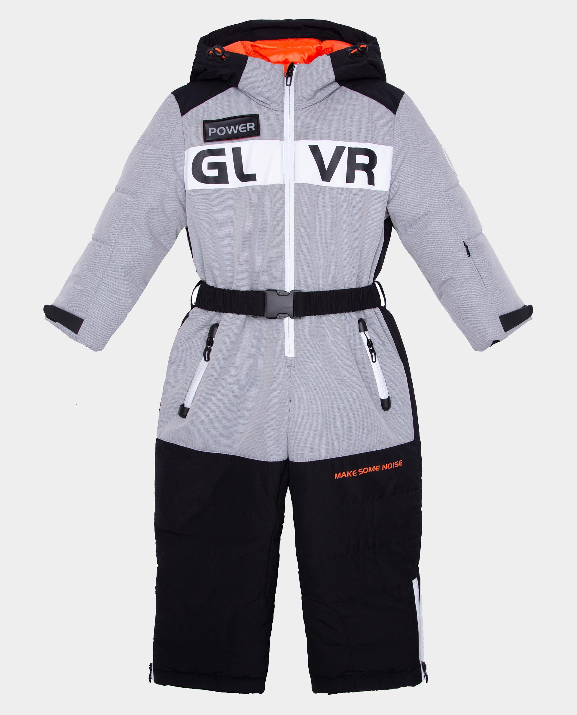 Серый комбинезон зимний Gulliver 22006BMC6501, размер 98