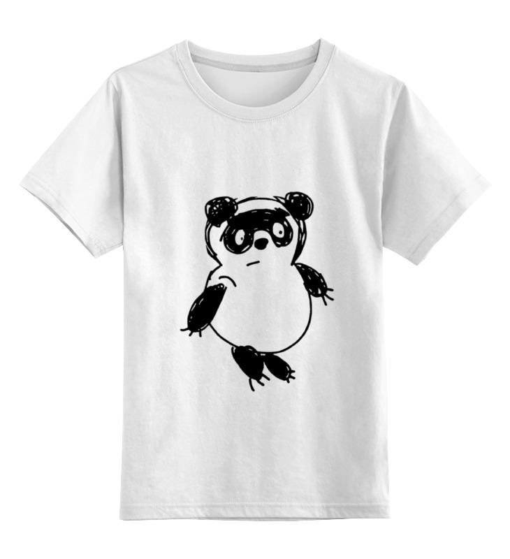 Детская футболка Printio Медведь цв.белый р.164 0000000771096 по цене 790