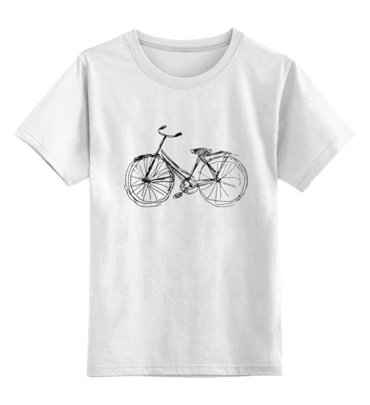 Детская футболка Printio Велосипед цв.белый р.164 0000000771081 по цене 790