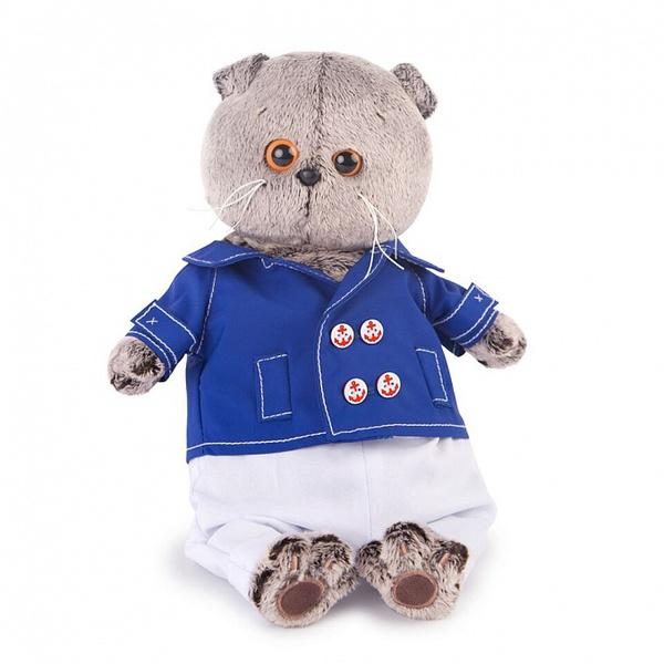 Купить Мягкая игрушка Budi Basa Кот Басик в синем кителе 22 см,