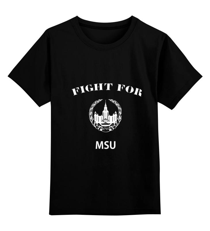 Детская футболка Printio Fight for msu цв.черный р.104 0000000782912 по цене 990