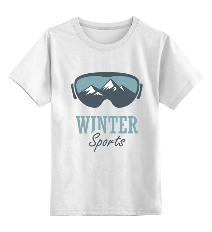Детская футболка Printio Зимний спорт winter sport цв.белый р.104 0000000782124 по цене 790