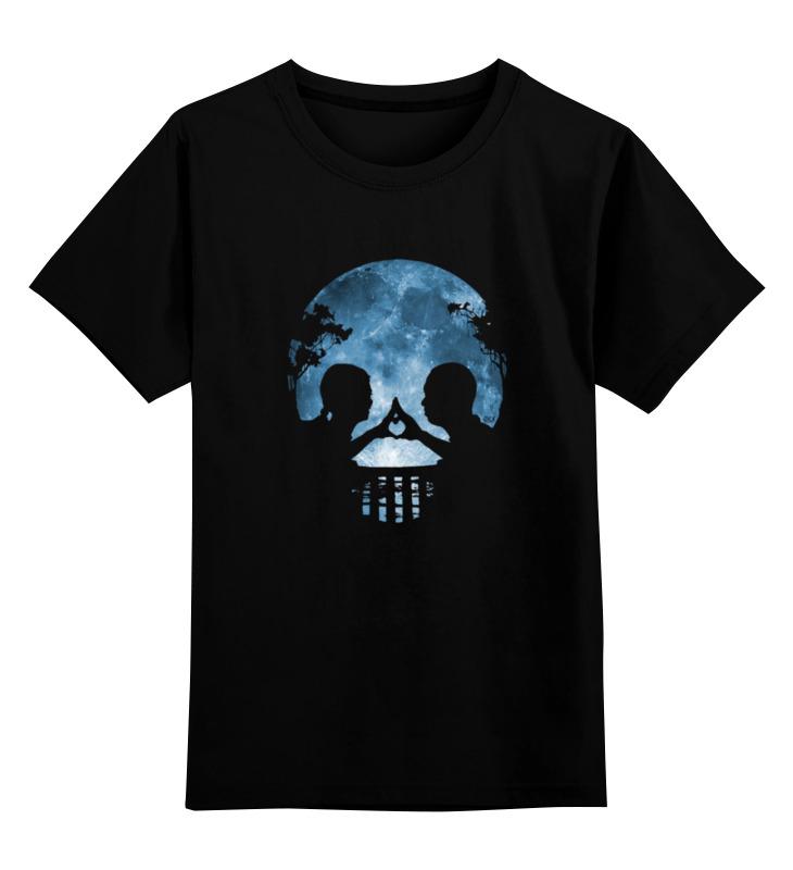 Детская футболка Printio Влюбленные или череп? цв.черный р.104 0000000778188