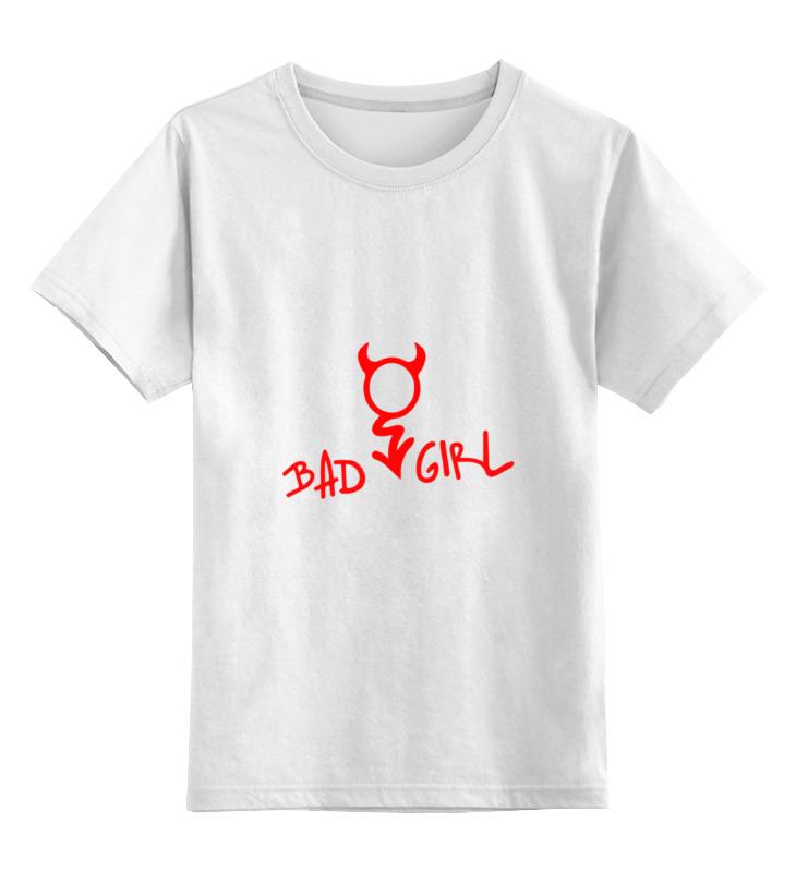 Детская футболка Printio Bad girl плохая девченка цв.белый р.104 0000000772010 по цене 790