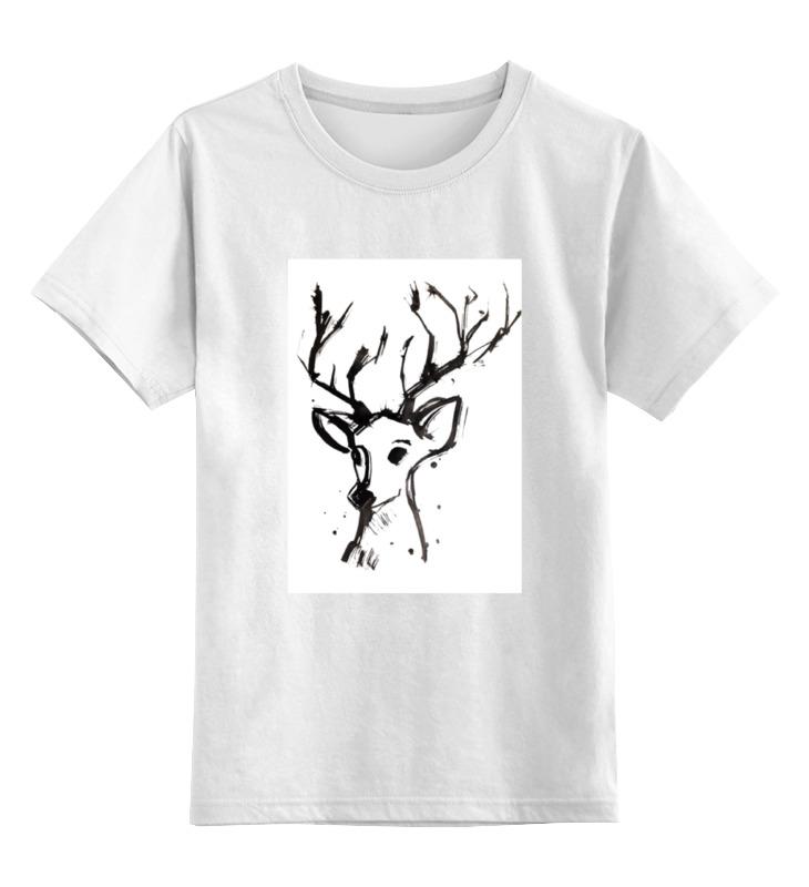 Детская футболка Printio Dear deer цв.белый р.104 0000000771823 по цене 790