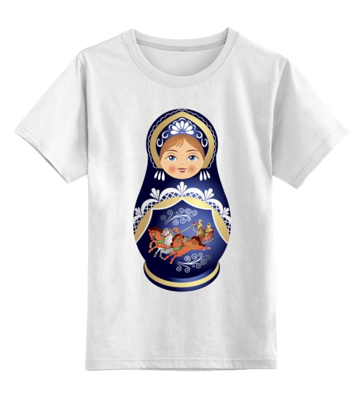 Детская футболка Printio Матрешка цв.белый р.104 0000000771015 по цене 790