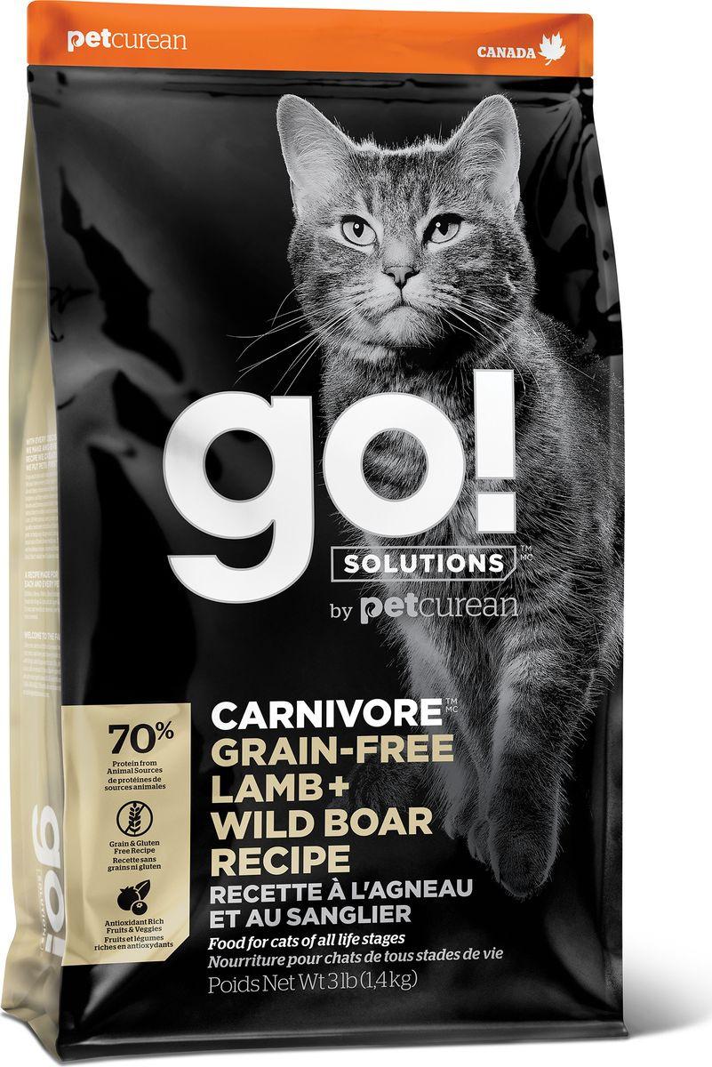Сухой беззерновой корм для кошек с ягненком и мясом дикого кабана 3,63 кг
