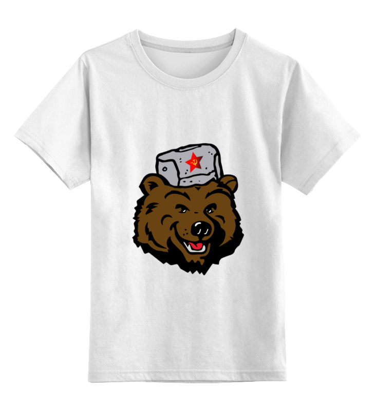 Детская футболка Printio Russian bear русский медведь цв.белый р.104 0000000770753 по цене 790