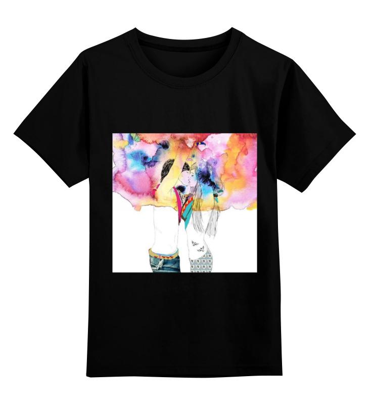 Купить 0000000783277, Детская футболка Printio Happy together цв.черный р.116,