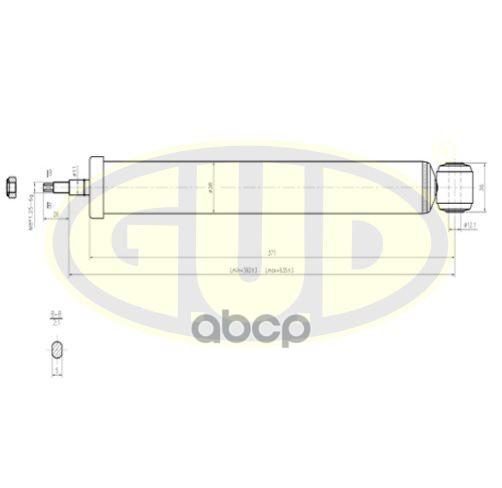 Амортизатор подвески G.U.D GSA343290
