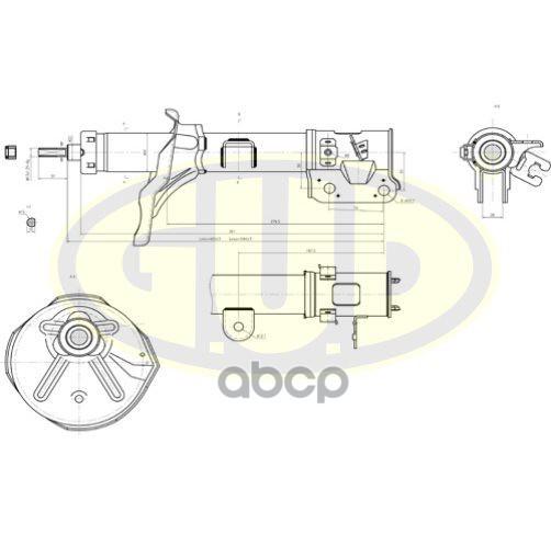 Амортизатор подвески G.U.D GSA339746